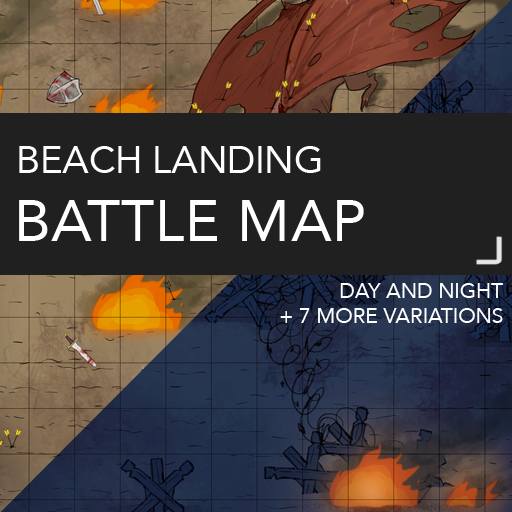 Beach Landing Map with Variations