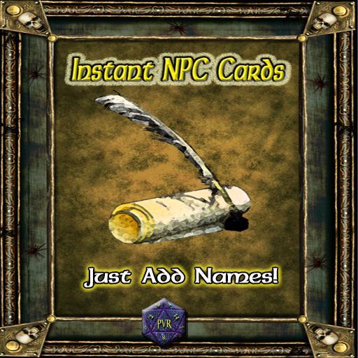 Instant NPC Cards
