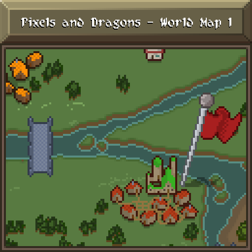 Pixels and Dragons - World Map 1