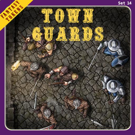Fantasy Tokens Set 14, Town Guards