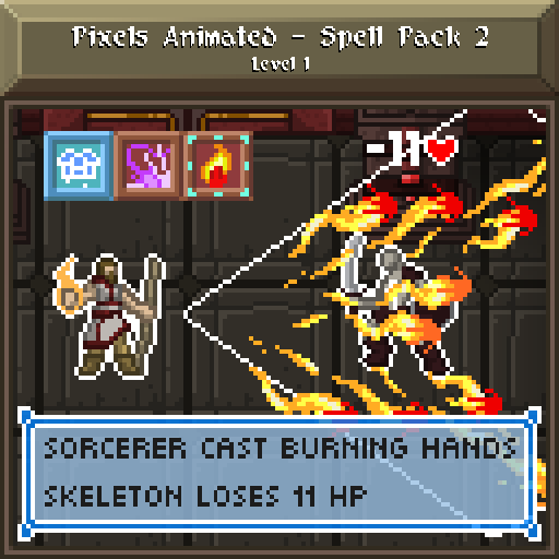 Animated Pixels - Spell Pack 2 - Level 1