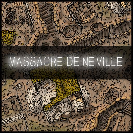 Massacre de Neville WW1 battle map