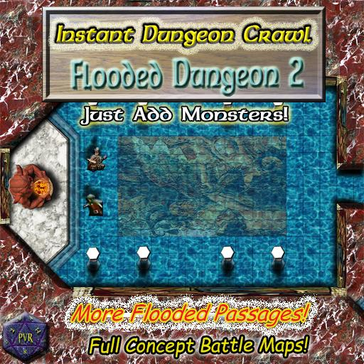 Instant Dungeon Crawl: Flooded Dungeon 2