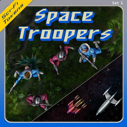 Sci-Fi Tokens Set 1, Space Troopers