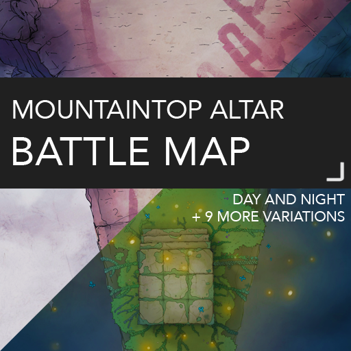 Mountaintop Altar Battlemap