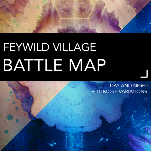 Feywild Village Battlemap