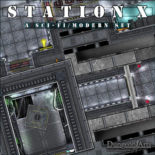 Station X Sci-Fi Tile-set