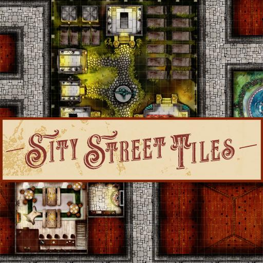 City Street Map Tile Pack (25 Tiles)