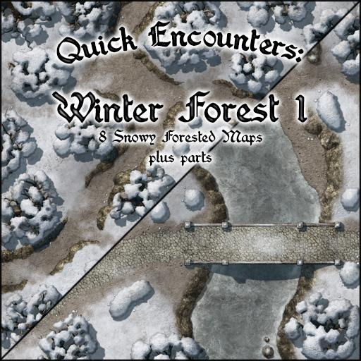Quick Encounters: Winter Forest 1
