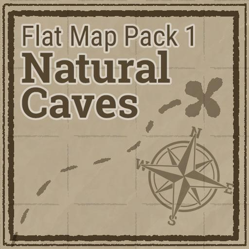 Flat Map Pack 1 - Natural Caves