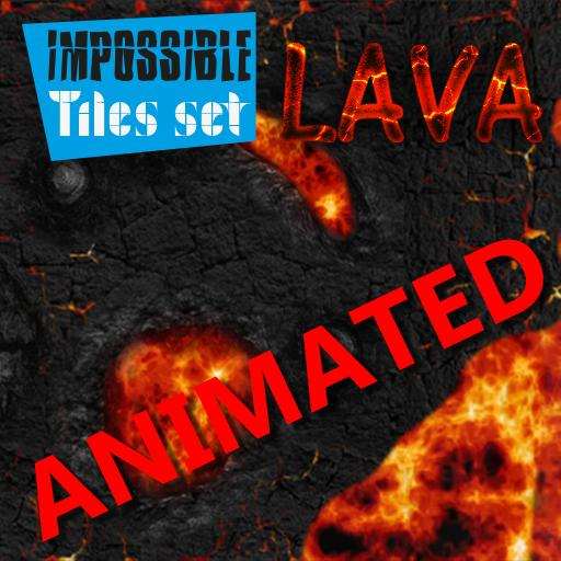 Impossible Tiles Set: Lava