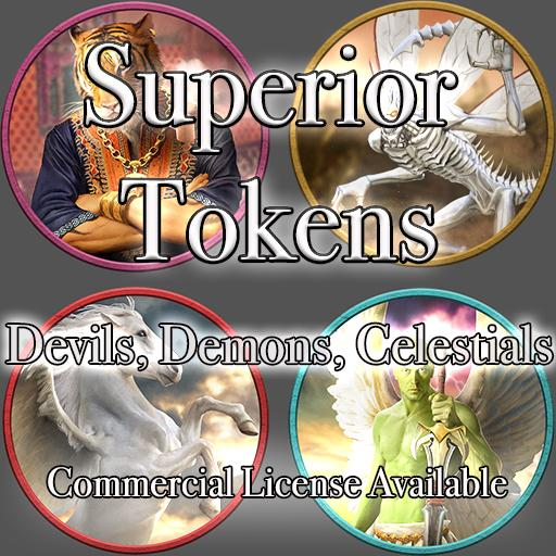 5E SRD Tokens - Devils, Demons, Celestials
