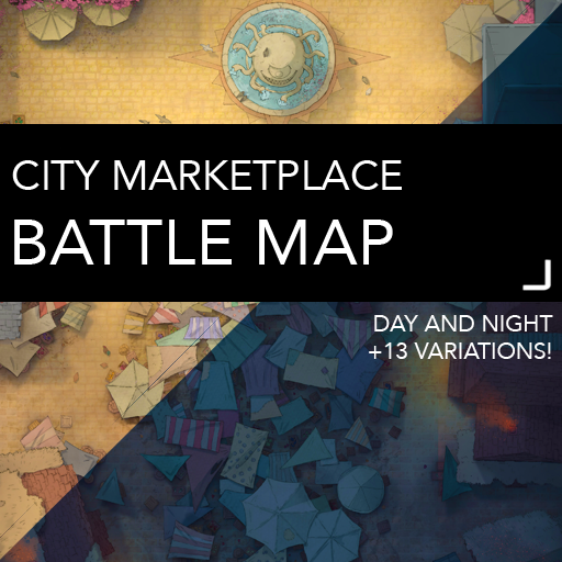 City Marketplace Battle Map