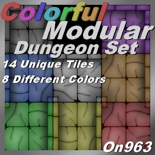 Colorful Modular Dungeon Set