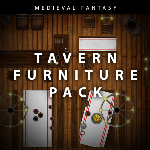Medieval Fantasy Tavern Furniture Pack