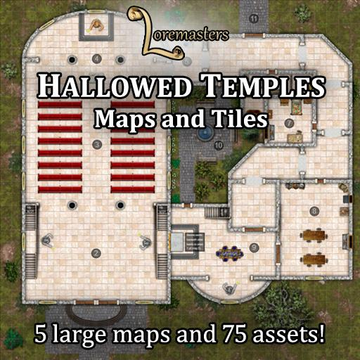 Hallowed Temples: Maps and Tiles