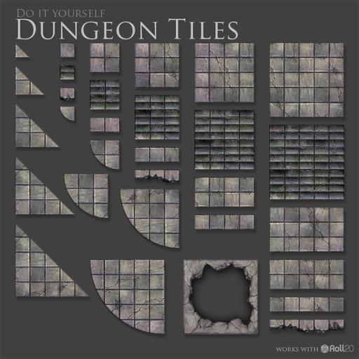DIY Dungeon Tiles