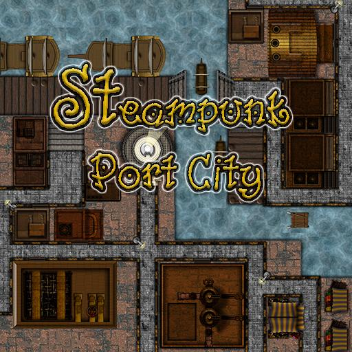 Steampunk Industrial Port City