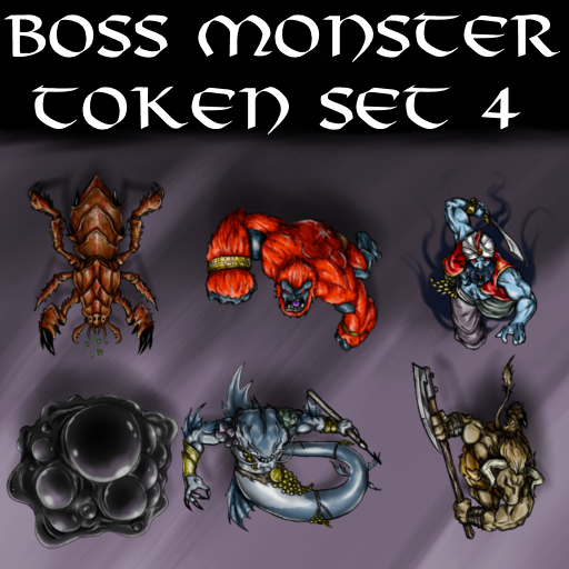Boss Monster Token Set 4