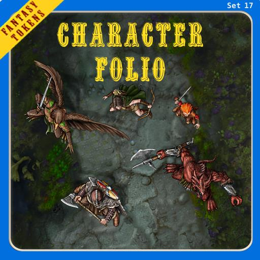 Fantasy Tokens Set 17, Character Folio