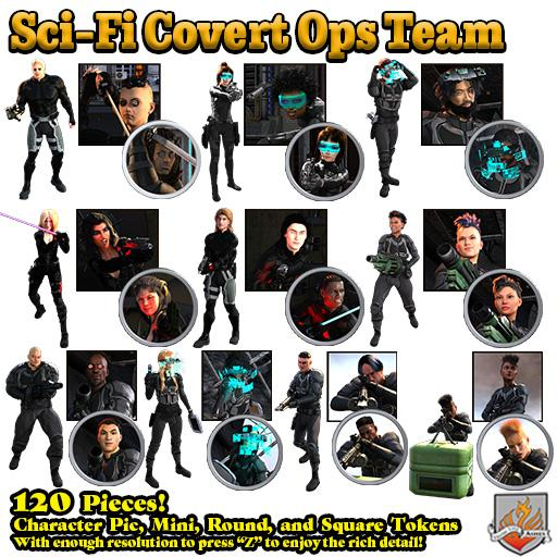 Sci-Fi Covert Ops Team