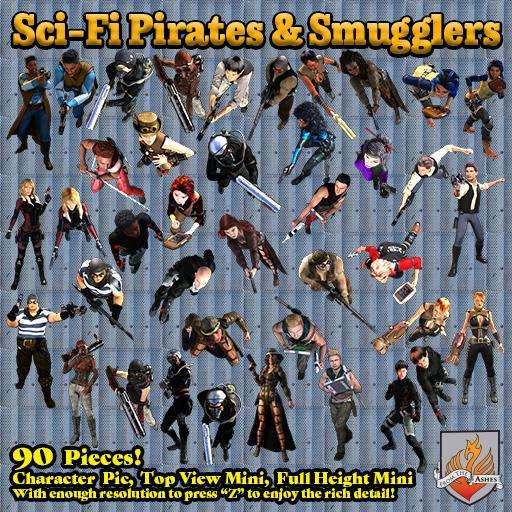 Sci-Fi Pirates & Smugglers, Top View
