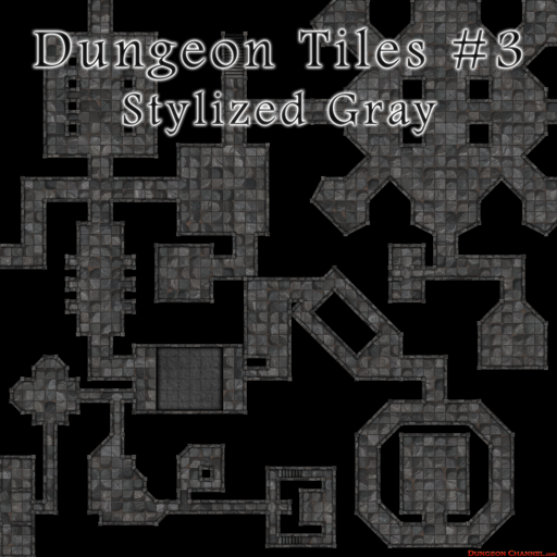 Dungeon Tiles: Stylized Gray