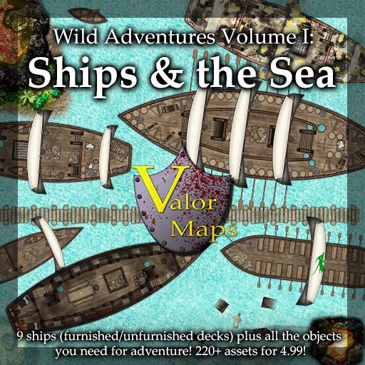 Wild Adventures V1: Ships and the Sea | Roll20 Marketplace