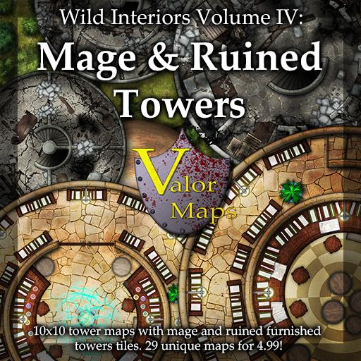 Wild Interiors V4: Mage and Ruined Towers