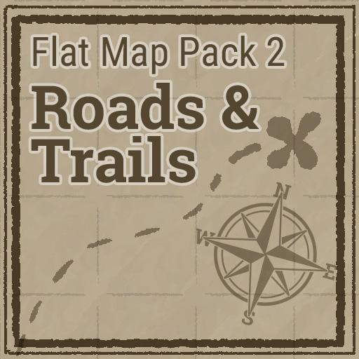 Flat Map Pack 2 - Roads & Trails
