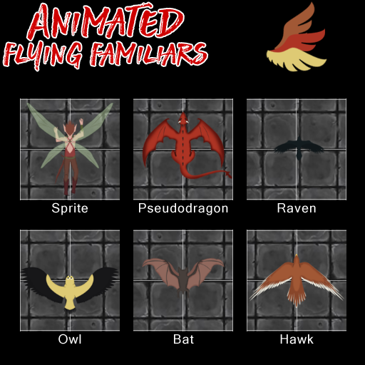 Animated Flying Familiars