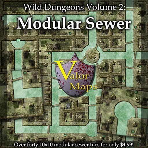 Wild Dungeons Volume 2: Modular Sewer