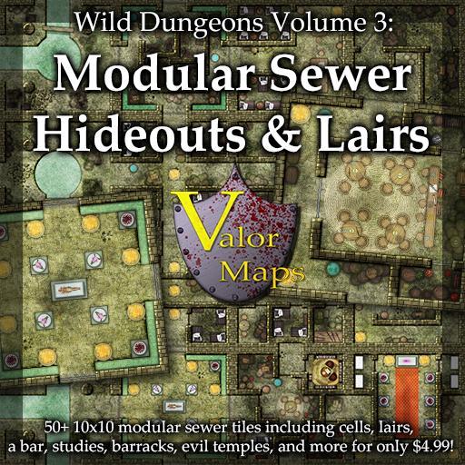 Wild Dungeons Volume 3: Modular Sewer Hideouts & Lairs
