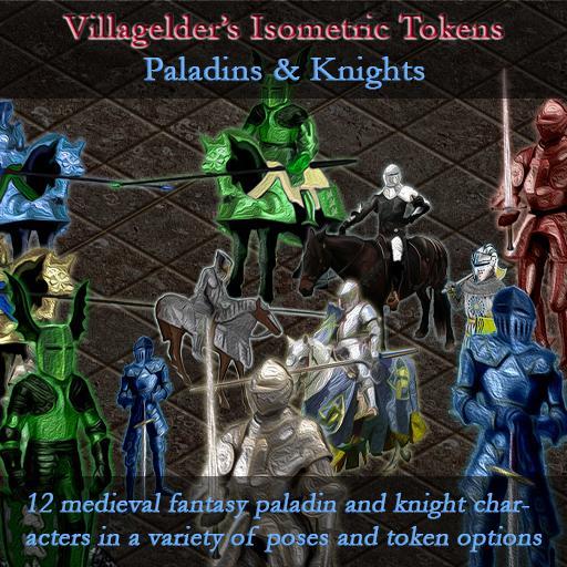 Isometric Tokens - Paladins & Knights