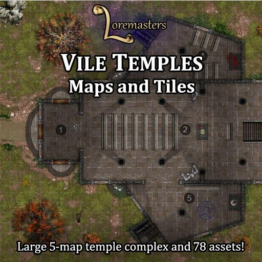 Vile Temples: Maps and Tiles