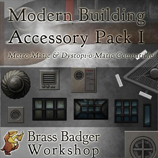 Modern City Building Accessories I