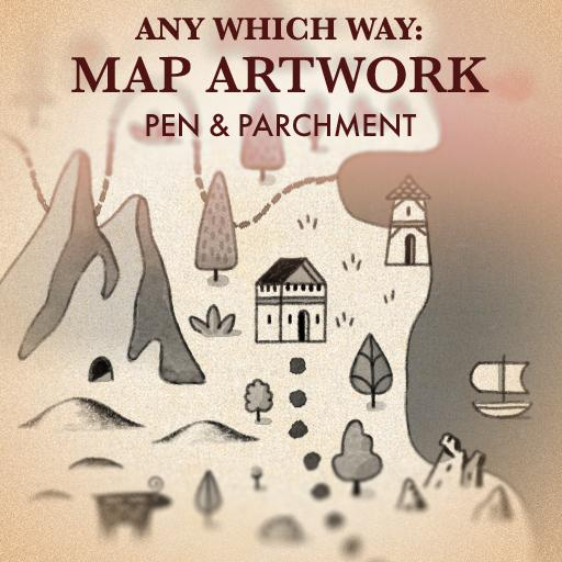 Any Which Way: Map Artwork Pen and Parchment