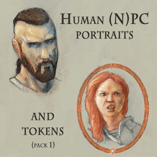 Human (N)PC Portraits and Tokens Pack 1