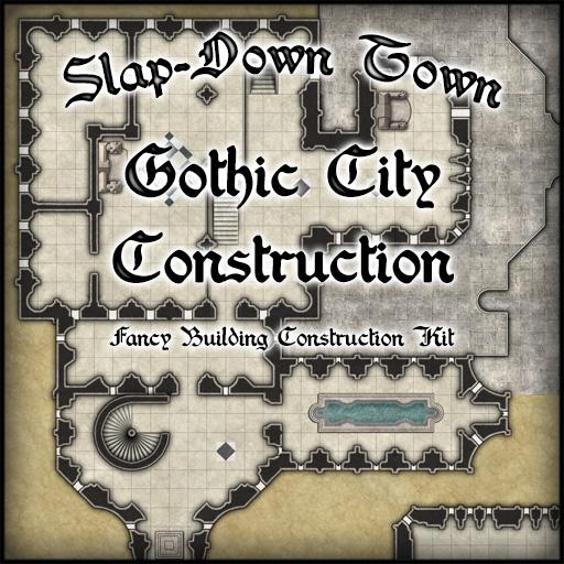 Slap-Down Town Gothic City Construction