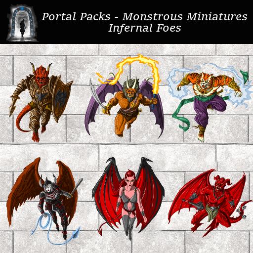 Portal Packs - Monstrous Miniatures - Infernal Foes