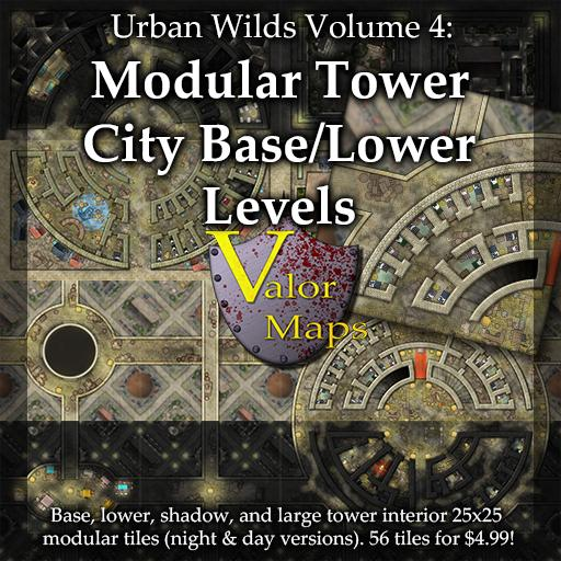 Urban Wilds V4: Modular Tower City Base