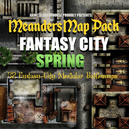 Meanders Map Pack FANTASY CITY (SPRING)