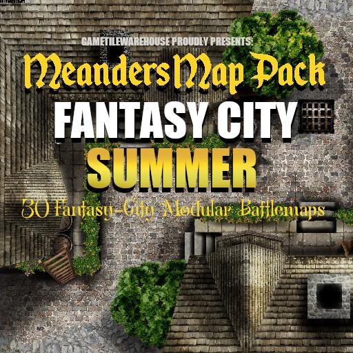 Meanders Map Pack FANTASY CITY (SUMMER)
