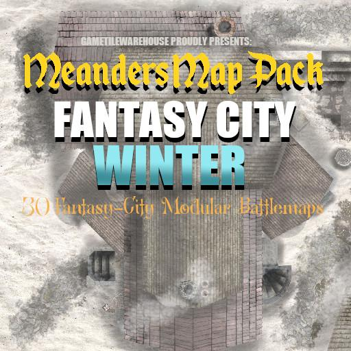 Meanders Map Pack FANTASY CITY (WINTER)