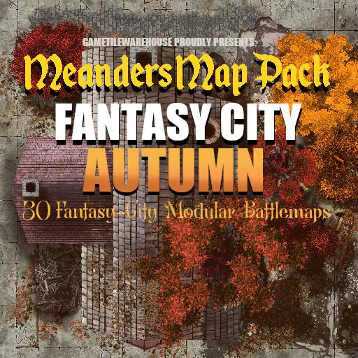 Meanders Map Pack FANTASY CITY (AUTUMN)