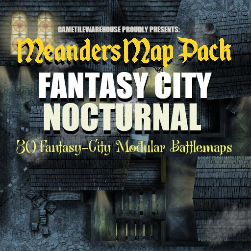 Meanders Map Pack FANTASY CITY (NOCTURNAL)
