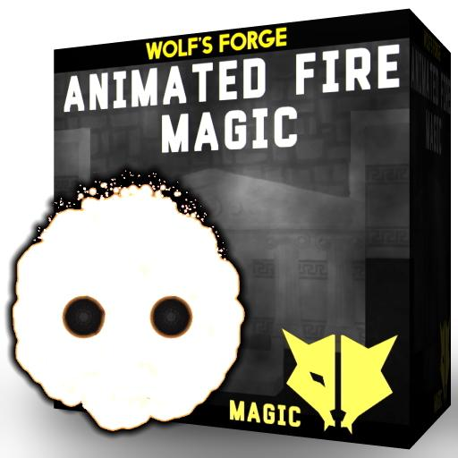 Animated fire magic