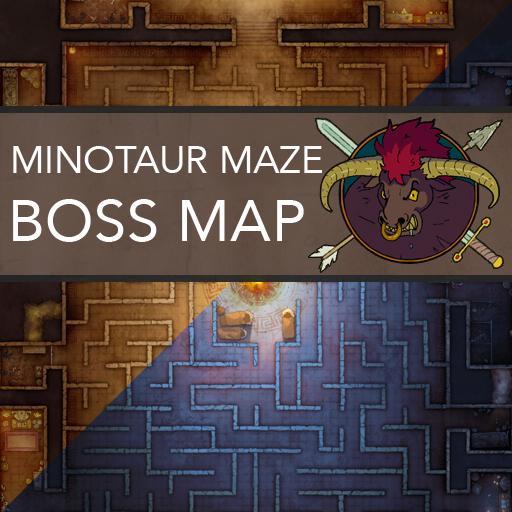 Minotaur Labyrinth Battlemaps
