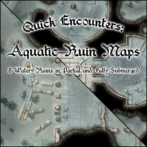 Quick Encounters: Aquatic Ruin Maps