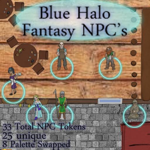 Blue Halo Fantasy NPC's